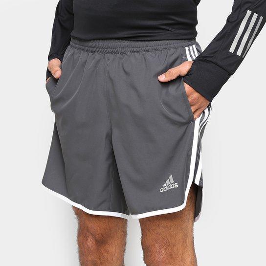 Bermuda Adidas M20 Masculina - Cinza+Branco