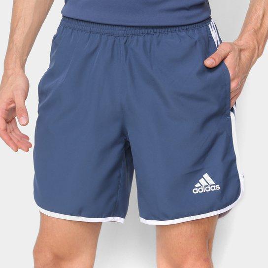 Bermuda Adidas M20 Masculina - Azul+Branco