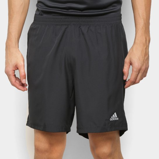 Bermuda Adidas Run It Masculina - Preto+Rosa