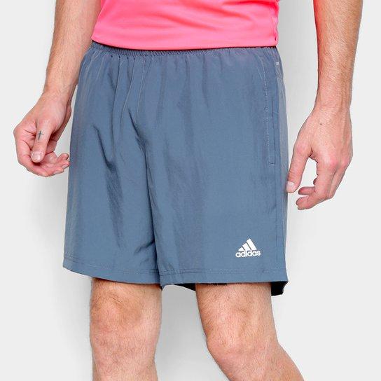 Bermuda Adidas Run It Pb Masculina - Azul