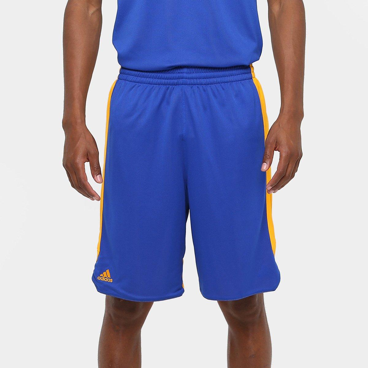 Bermuda Adidas Treino Dupla Face Masculina - Azul e amarelo - Compre ... d9ab3b5d2f161