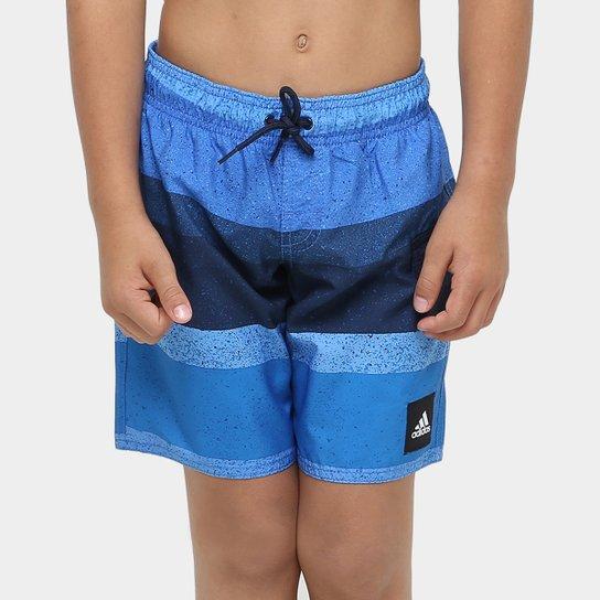 Bermuda Adidas Yb Aop - Azul+Marinho