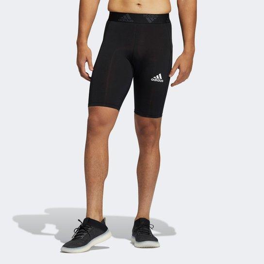 Bermuda Compressão Adidas TechFit Masculina - Preto