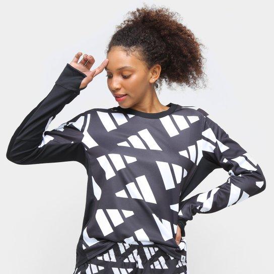Blusa Adidas Otr Sweat Celeb Feminina - Preto+Branco