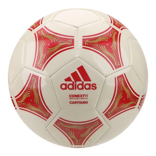 Bola de Futebol Campo Adidas Capitano Conext19 Glider Match Ball Replique - Branco+Vermelho