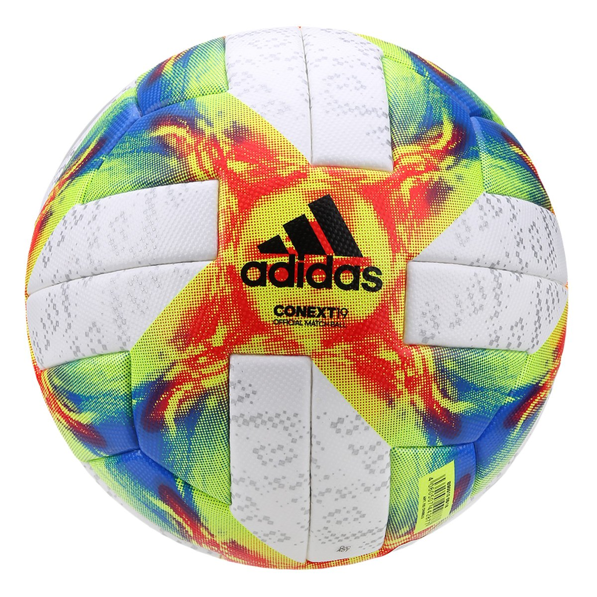 Bola de Futebol Campo Adidas Conext19 Omb - Branco e Amarelo ... 8a61aba136e8b