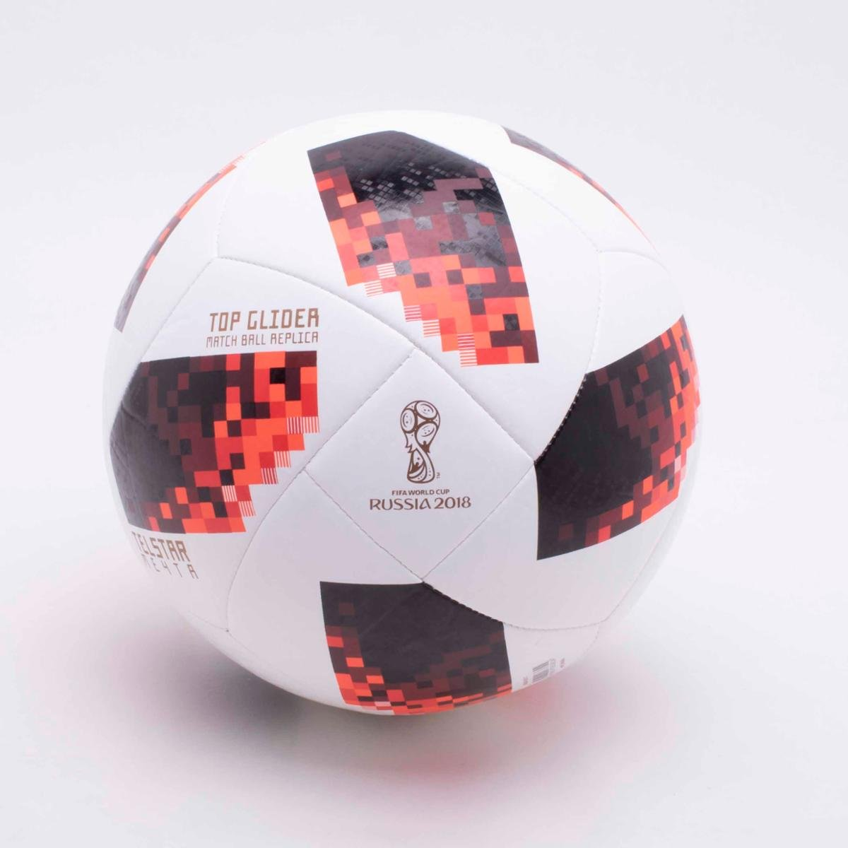 ... Bola de Futebol Campo Adidas Telstar 18 Top Glider Réplica Mata-Mata Copa  do Mundo 2c58bb980ec7f