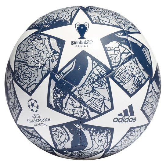 Bola de Futebol Campo Adidas UEFA Champions League Club Final Istanbul 20 - Branco+Azul