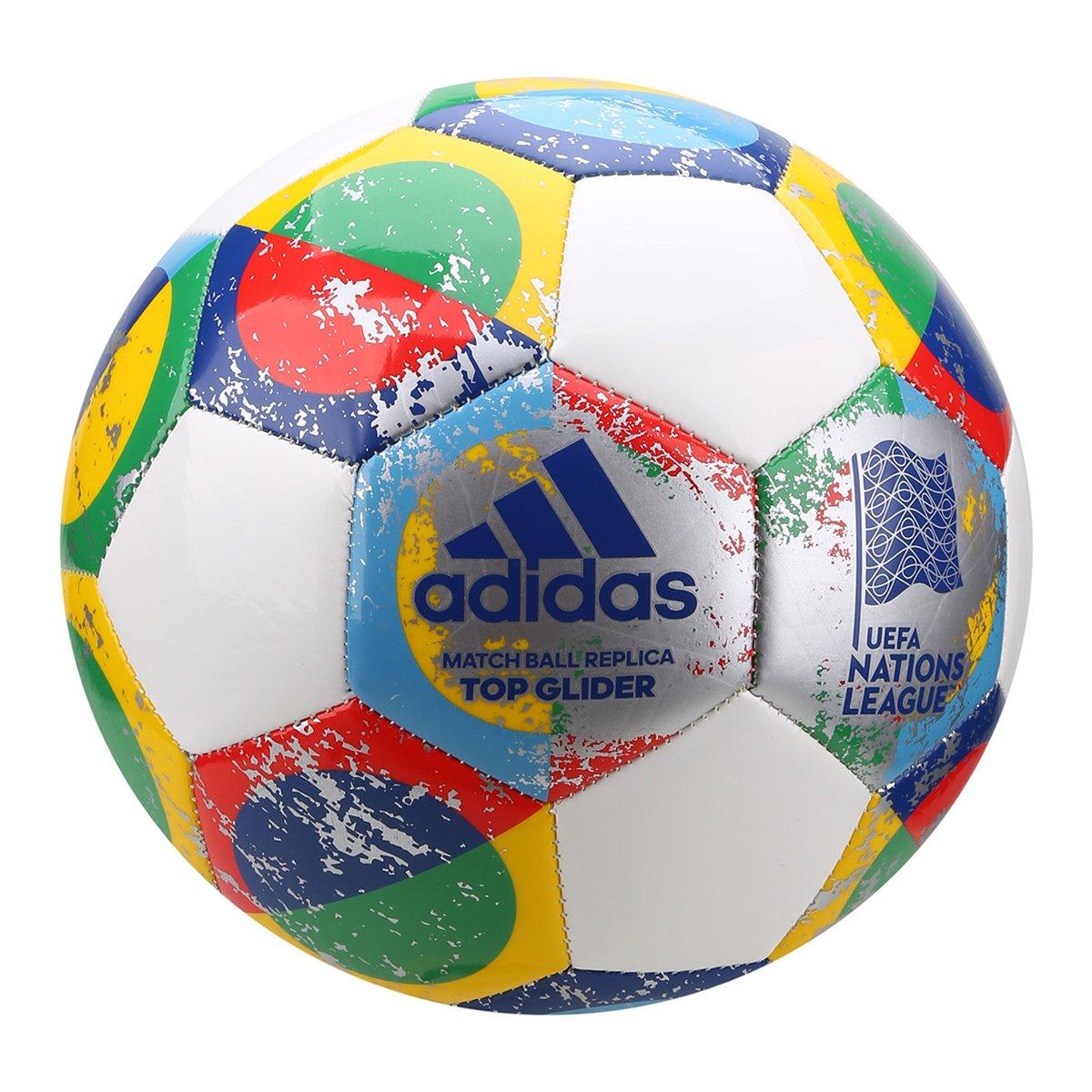 66cac7dcb903a Bola de Futebol Campo Adidas UEFA Nations League Top Glider Match Ball  Replique - Branco e prata | São Paulo Mania