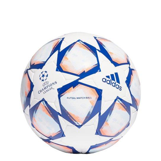Bola de Futsal Adidas UEFA Champions League Club Finale 20 Match Ball Pro - Branco+Azul Royal