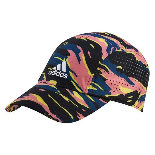 Boné Adidas Aba Curva Strapback Graphic Hat - Cinza+Azul