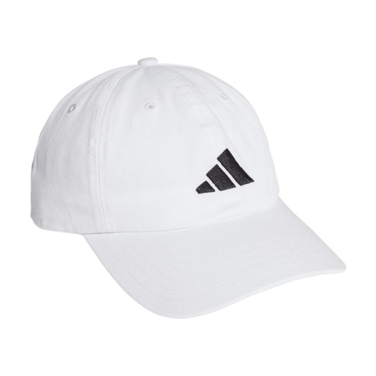 Boné Adidas Aba Curva Strapback Logo - Branco+Preto