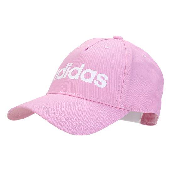 Boné Adidas Daily Aba Curva - Branco+Rosa