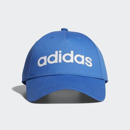 Boné Adidas Daily Aba Curva - Azul+Branco