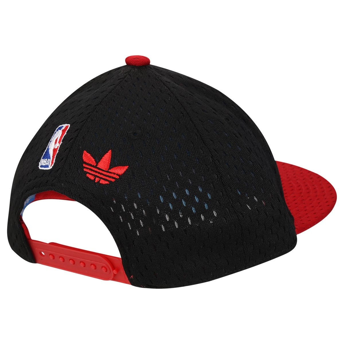 Boné Adidas Originals NBA Mesh Bulls - Preto e Vermelho - Compre ... 1f347e4acb51c