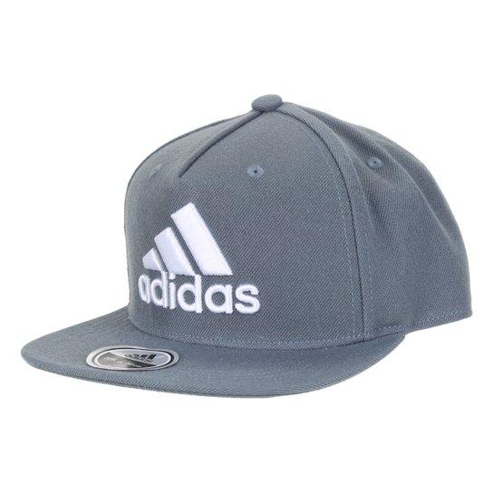 Boné Adidas Snap Back Logo Aba Reta - Azul