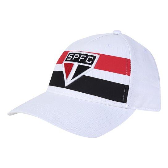 Boné São Paulo I Adidas Aba Curva - Branco