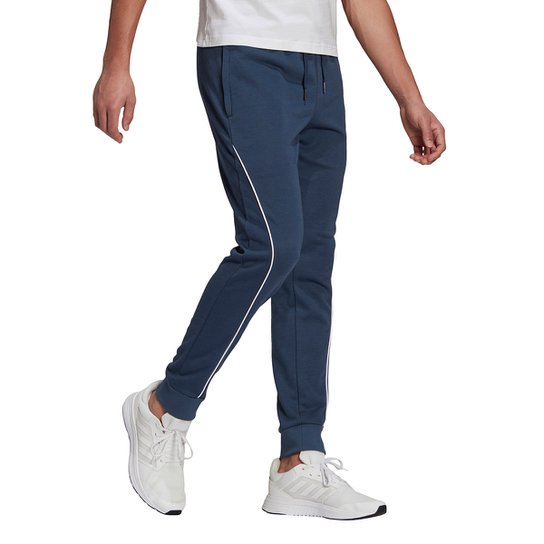 Calça Adidas 7/8 Gradient Logo Feminina - Azul+Branco