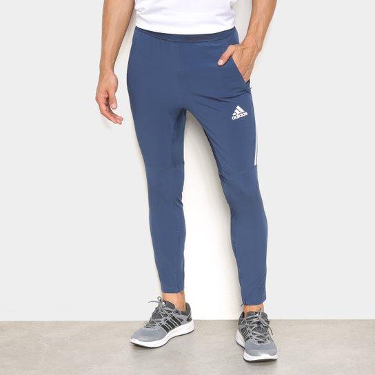 Calça Adidas Aeroready 3 Listras Masculina - Azul