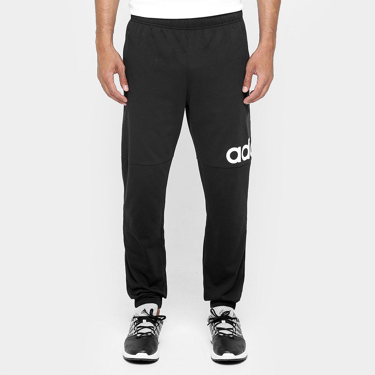 1195b895287d1 Calça Adidas Essentials Performance Logo Masculina - Preto e Branco - Compre  Agora