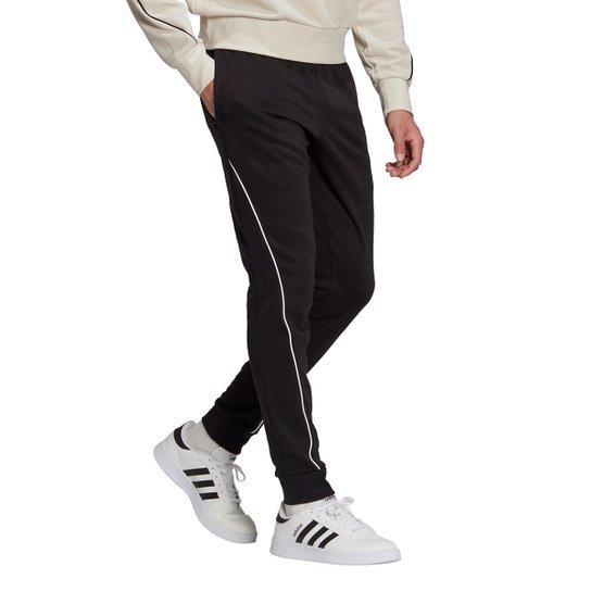 Calça Adidas Favourites Masculina - Preto+Branco