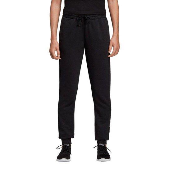 Calça Adidas Lin Feminina - Preto+Branco