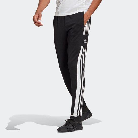 Calça Adidas Treino Squadra 21 Masculina - Preto+Branco