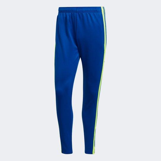 Calça Adidas Treino Squadra 21 Masculina - Azul Royal+Amarelo