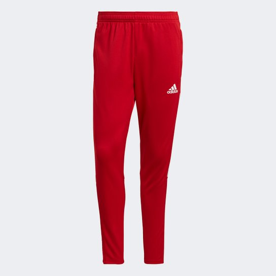 Calça Adidas Treino Tiro 21 Slim Masculina - Vermelho