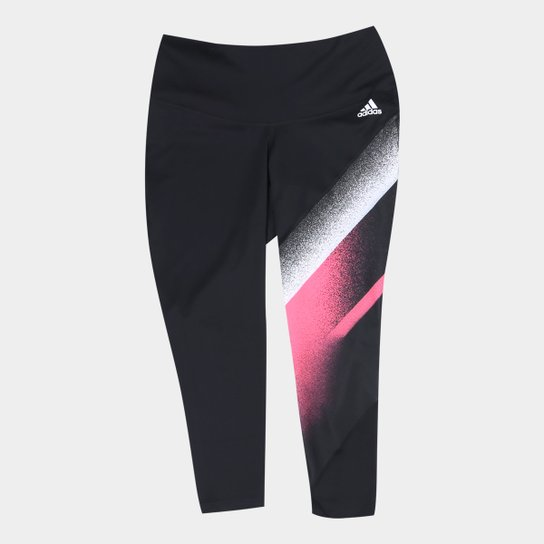 Calça Adidas Unleash Confidence Fellbrilliant 7/8 Plus Size Feminina - Preto+Branco