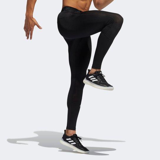 Calça Compressão Adidas Masculina - Preto