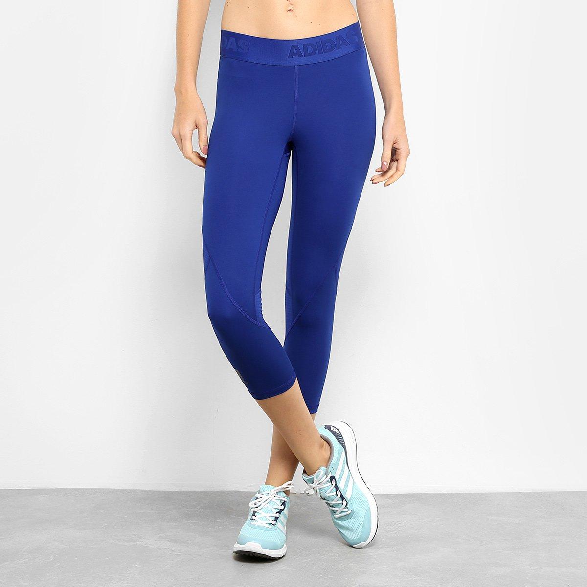 005e4d0d876 Calça Corsário Adidas Ask Spr 34 Feminina - Azul Royal - Compre Agora
