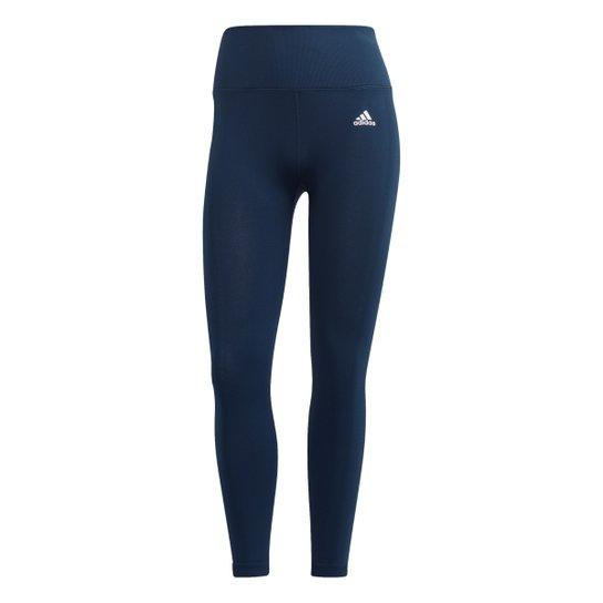 Calça Legging Adidas 7/8 Feminina - Azul+Preto
