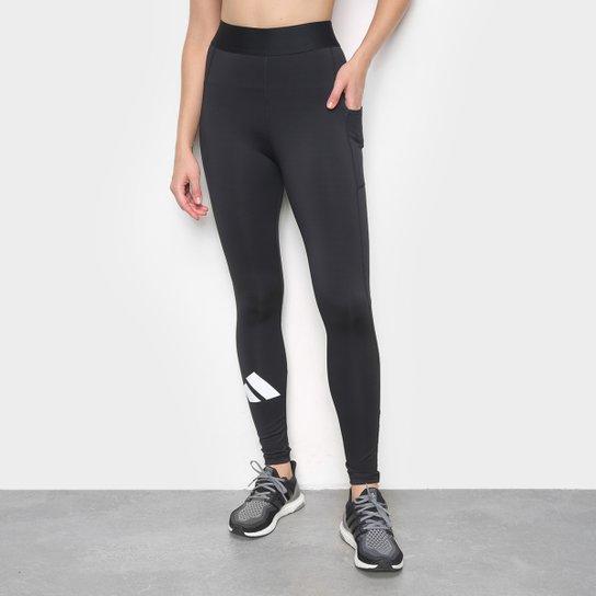 Calça Legging Adidas Adilife Feminina - Preto+Branco