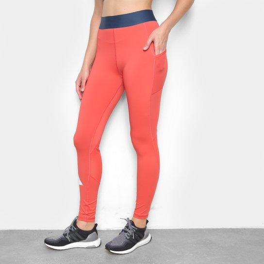 Calça Legging Adidas Adilife Feminina - Vermelho+Preto