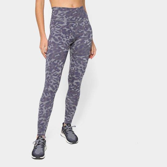 Calça Legging Adidas Believe This Leopardo Feminina - Cinza