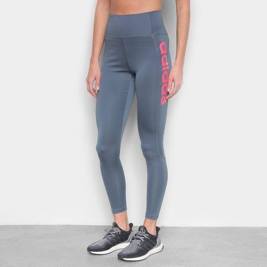 Calça Legging Adidas D2M Hr L Feminino - Azul+Rosa