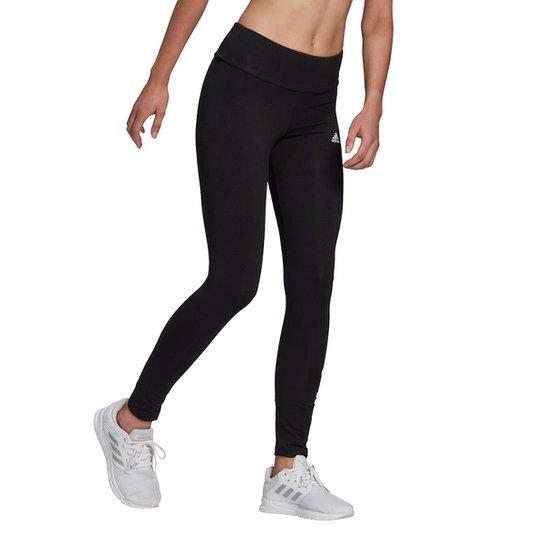 Calça Legging Adidas Essentials Linear Feminina - Preto+Branco