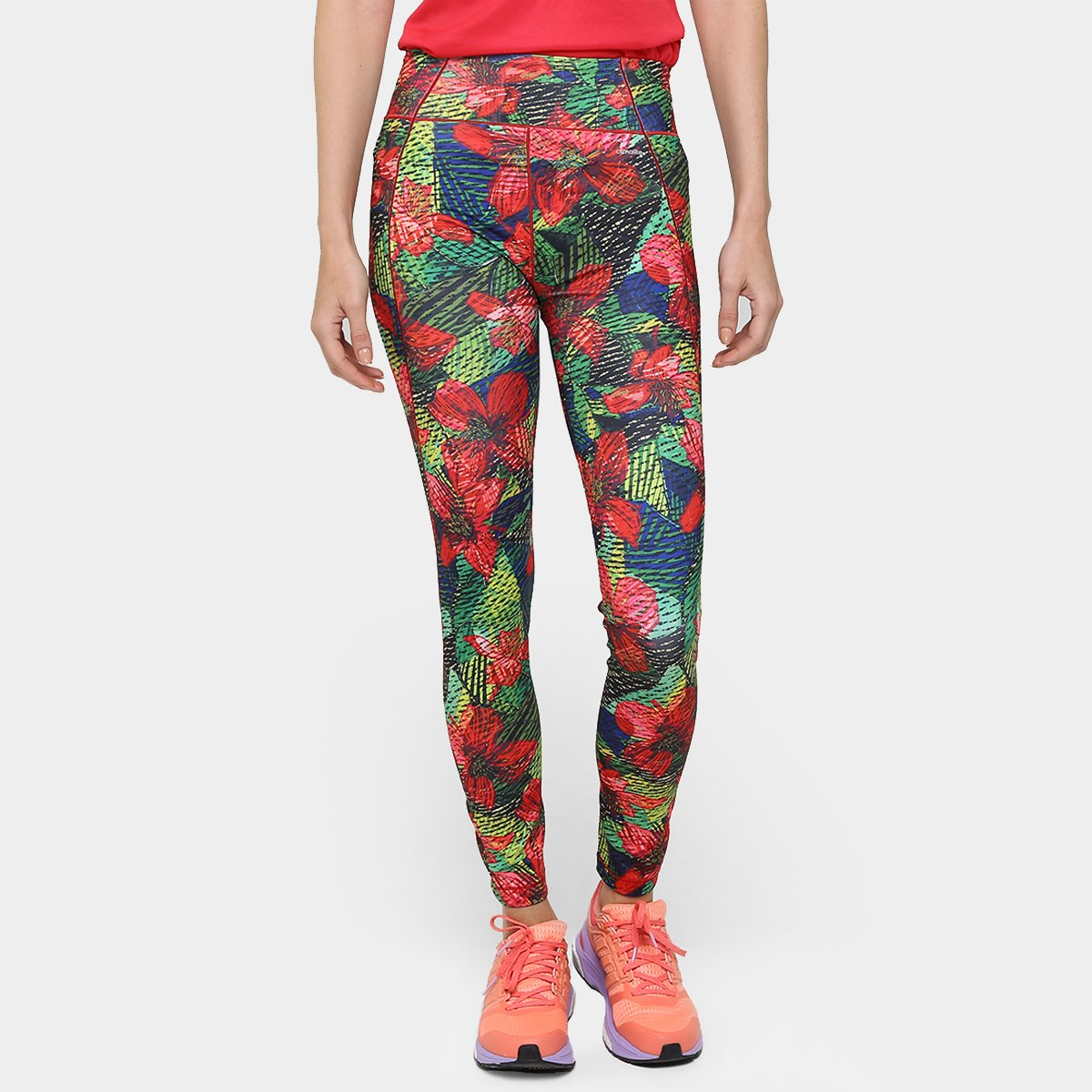 fc3542ac4f5 Calça Legging Adidas G2 Salinas Feminina - Vermelho e Verde - Compre Agora