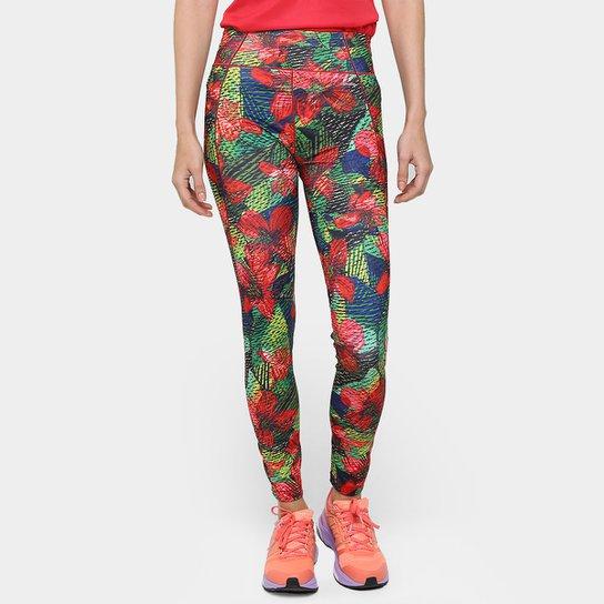 Calça Legging Adidas G2 Salinas Feminina - Vermelho+Verde
