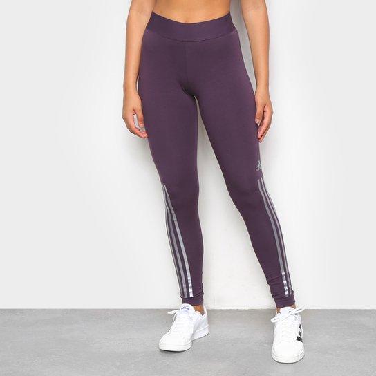 Calça Legging Adidas Glam Cintura Média Feminina - Marrom