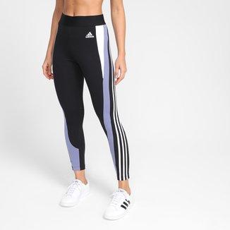 Calça Legging Adidas Sportwear Colorblock Cintura Alta Feminina
