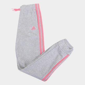 Calça Moletom Infantil Adidas Essentials 3S Feminina