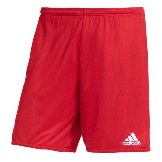 Calção Adidas Parma 16 Masculino - Vermelho+Branco