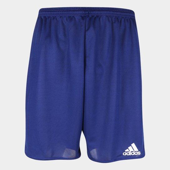 Calção Adidas Parma 16 Masculino - Azul+Branco
