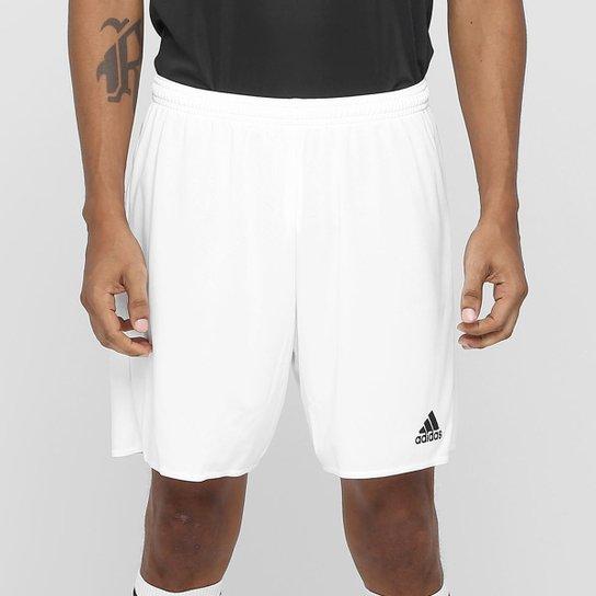 Calção Adidas Parma Masculino - Branco+Preto