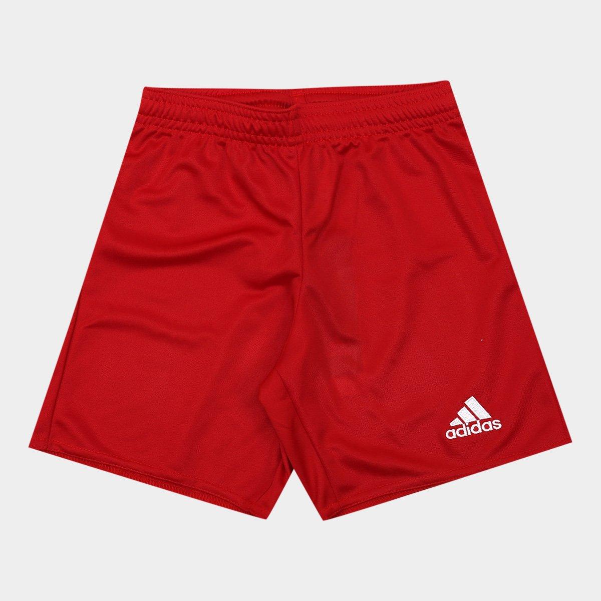 Calção Infantil Adidas Parma 16 - Vermelho - Compre Agora  022cb98573464