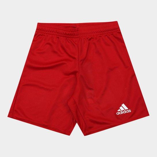 Calção Infantil Adidas Parma 16  - Vermelho