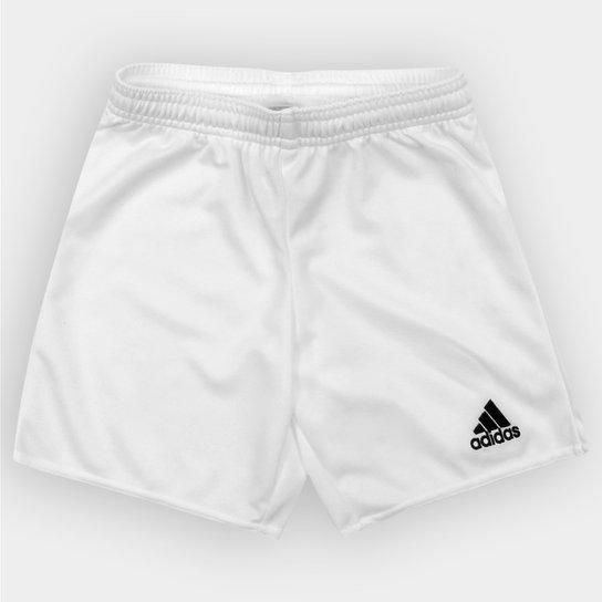Calção Infantil Adidas Parma 16 - Branco+Preto