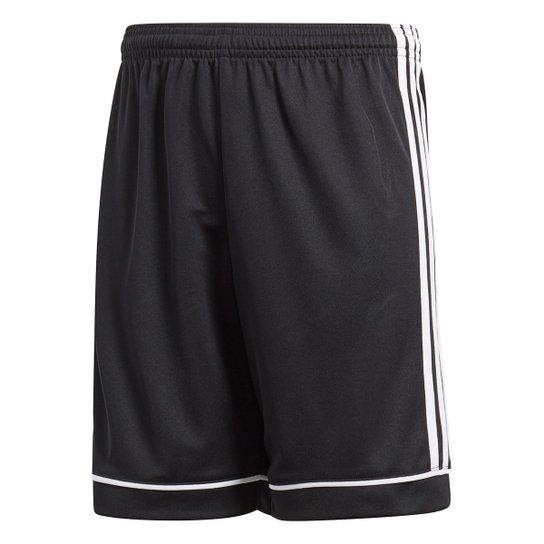 Calção Infantil Adidas Squadra - Preto+Branco